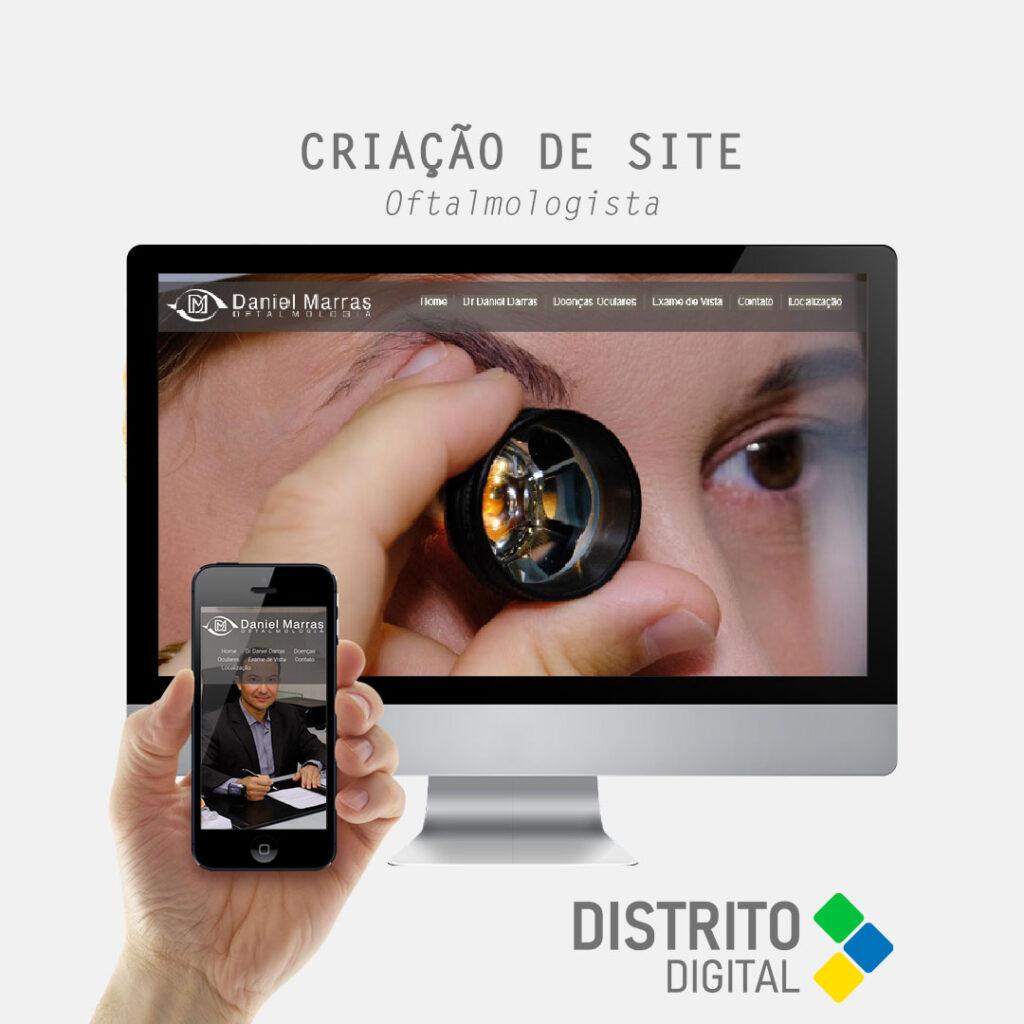 Criação de site médico oftalmologista Dr Daniel Marras